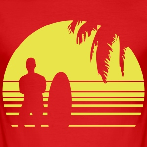 BEACH SURFING BOY PALME T-shirts - Herre Slim Fit T-Shirt