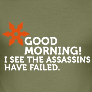 I See The Assassins Have Failed (2c) T-shirts - slim fit T-shirt