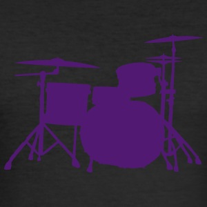 Drums Silhouette ReDesign 2 T-Shirts - Männer Slim Fit T-Shirt