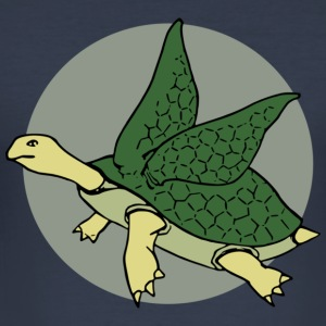 Flying Turtle - Men's Slim Fit T-Shirt