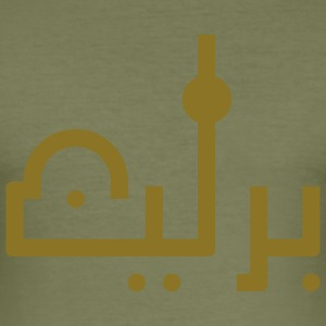 Berlin_arabic_olivegold - Männer Slim Fit T-Shirt