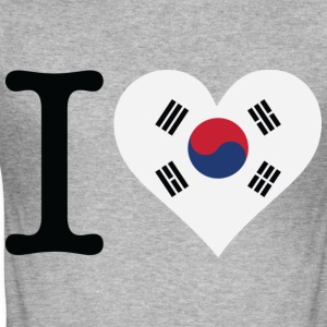 I Love Southkorea (dd) T-Shirts - Men's Slim Fit T-Shirt