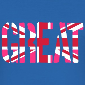 Gay Great Britain flag, Rosa brittiska flaggan, Ro - Slim Fit T-shirt herr