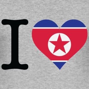 I Love Northkorea (dd) T-skjorter - Slim Fit T-skjorte for menn