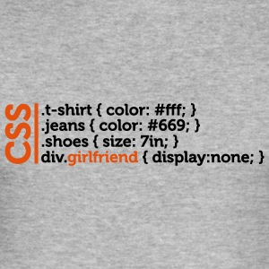 Css Clothes Girlfriend (2c)++ T-skjorter - Slim Fit T-skjorte for menn