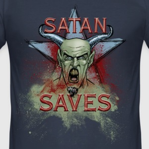 Satan Saves - Men's Slim Fit T-Shirt