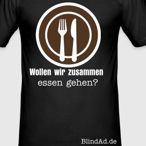 BlindAd Icon Essen T-Shirts - Männer Slim Fit T-Shirt