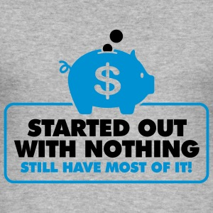 Started With Nothing 2 (2c)++ T-shirts - Slim Fit T-shirt herr