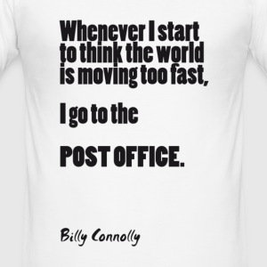 Post Office: Billy Connolly - Men's Slim Fit T-Shirt