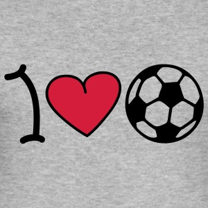 I love football T-skjorter - Slim Fit T-skjorte for menn