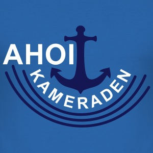 AHOI KAMERADEN | Männershirt slim fit - Männer Slim Fit T-Shirt