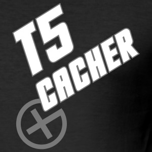 Geocaching T5 Cacher - Männer Slim Fit T-Shirt