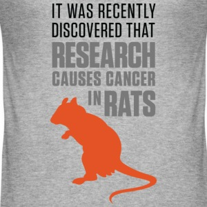 Research Causes Cancer 1 (dd)++ T-shirt - Maglietta aderente da uomo