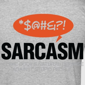 Sarcasm Defense 2 (dd)++ T-shirts - Slim Fit T-shirt herr