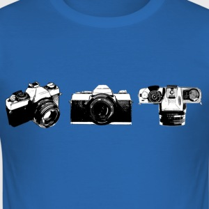 T-shirt met camera print - slim fit T-shirt