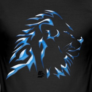 tshirt  lion tribal by customstyle T-shirts - Tee shirt près du corps Homme