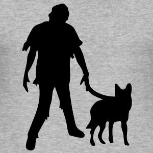 zombie_hund T-Shirts - Männer Slim Fit T-Shirt