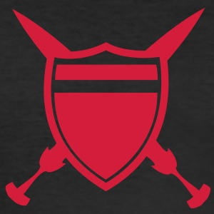 Shield and Sword T-shirts - Herre Slim Fit T-Shirt