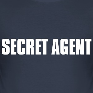Secret Agent - Männer Slim Fit T-Shirt
