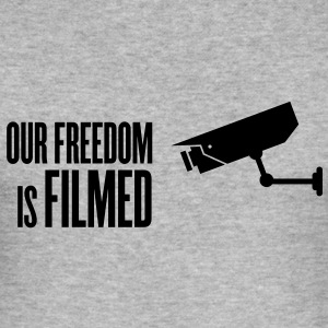 our freedom is filmed T-Shirts - Männer Slim Fit T-Shirt