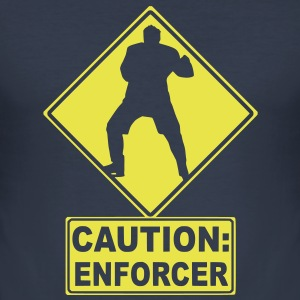 CAUTION: Hockey Enforcer T-Shirts - Men's Slim Fit T-Shirt
