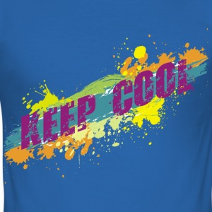KEEP COOL - grunge style | Männershirt slim fit - Männer Slim Fit T-Shirt
