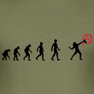 r-evolution, evolution, Revolution, street art, An - Männer Slim Fit T-Shirt