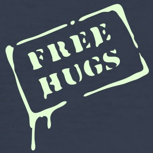 free_hugs, free hugs, love, hippi,  T-shirts - Slim Fit T-shirt herr