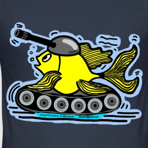 Fish Tank with a cannon,  sparky fabspark - Men's Slim Fit T-Shirt