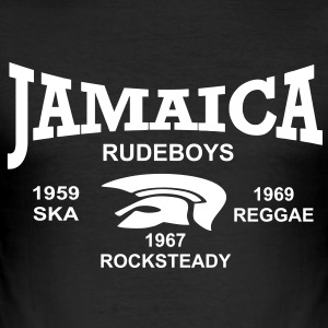 jamaica trojan rudeboys T-shirts - Slim Fit T-shirt herr