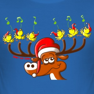 Birds' and Deer's Christmas Concert T-Shirts - Men's Slim Fit T-Shirt