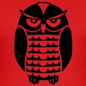Black Owl T-shirts - Slim Fit T-shirt herr