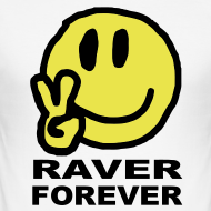 Design ~ Raver Forever Smiley Face with Victory fingers