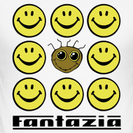 Design ~ Fantazia & 9 Smilies Mens T-shirt