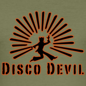 devil, disco, party, drugs, smoking pot, celebrate, celebration tonight, sex, retro, 70s, 60s, club, sound, music, drink, smoke or drink, noise, T-Shirts - Men's Slim Fit T-Shirt