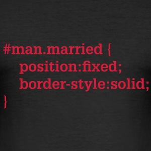 Groom - husband - CSS - HTML T-Shirts - Men's Slim Fit T-Shirt