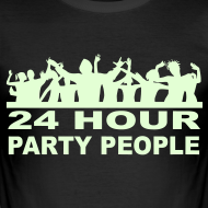 Design ~ 24 Hour party People Ibiza Clubbing t-shirt (Glow in the dark)