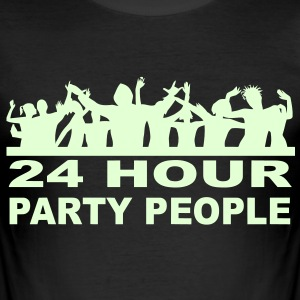 24 Hour party People Ibiza Clubbing t-shirt (Glow in the dark) - Men's Slim Fit T-Shirt