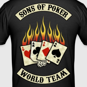 sons of poker team Tee shirts - Tee shirt près du corps Homme