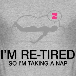 Retired Taking Nap 2 (dd)++ T-skjorter - Slim Fit T-skjorte for menn
