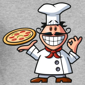 vl082b_pizzabaecker_4c T-Shirts - Männer Slim Fit T-Shirt