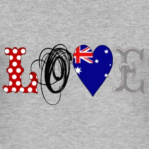Love Australia Black - Männer Slim Fit T-Shirt