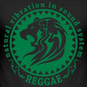 natural vibration in sound system reggae T-Shirts - Men's Slim Fit T-Shirt