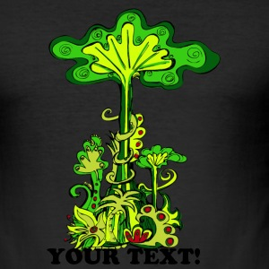 Longing for the faraway, Part 1: Jungle, digital, green, Illustration T-Shirts - Men's Slim Fit T-Shirt