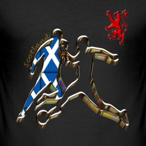 scotland football player T-Shirts - Men's Slim Fit T-Shirt