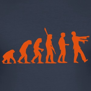 Zombie Evolution (einfarbig) T-Shirts - Männer Slim Fit T-Shirt