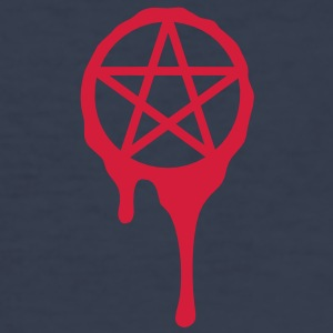 pentagram, five star, 5 star pentagram, blood, spl - Men's Slim Fit T-Shirt