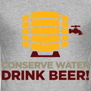 Conserve Water 1 (dd)++ T-shirts - Slim Fit T-shirt herr