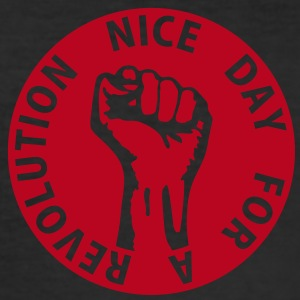 1 color - nice day for a revolution - against capitalism working class war revolution T-shirts - Slim Fit T-shirt herr