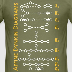 Affine Dynin Diagrams T-Shirts - Männer Slim Fit T-Shirt